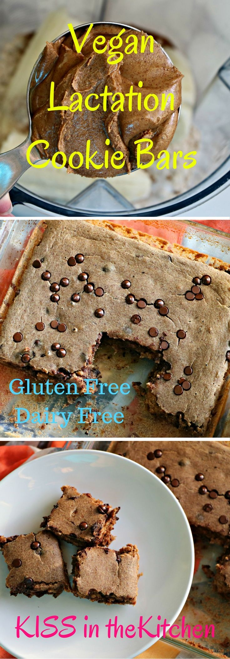 #Vegan Lactation Cookie Bars perfect for moms looking to boost breast milk supply or just wanting a nourishing snack! #GF #dairyfree