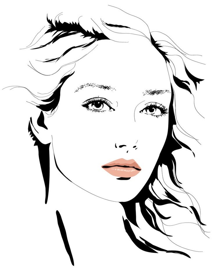 Girl Vector Illustration by Anna Stroumpou
