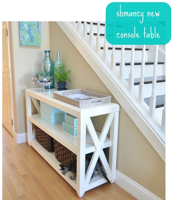 DIY Console Table This website also include plans to make other types of furniture...