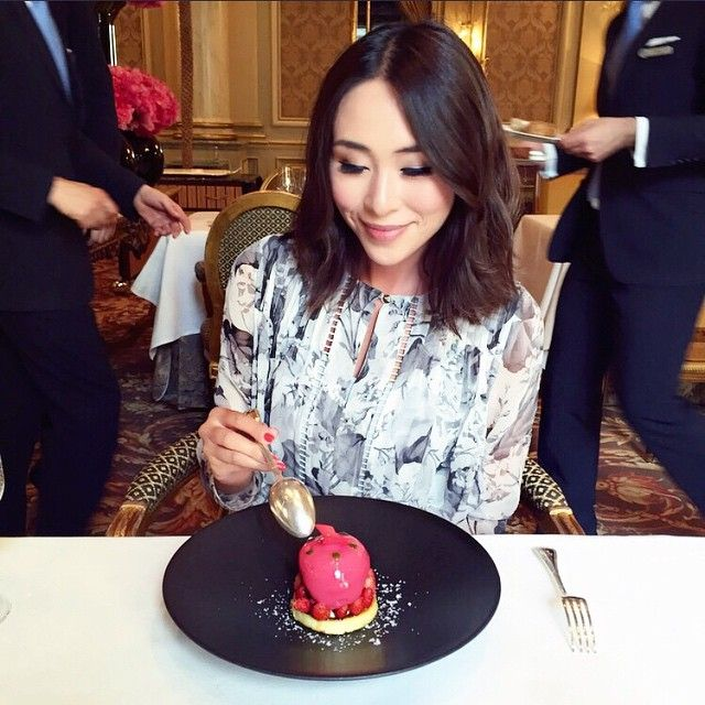 Degustation lunch at the Two-Michelin-Star Le Cinq restaurant in the most beautiful Four Seasons Hotel George V @fsparis @fourseasons @restaurantlecinq #Honeymoon #Europe #FourSeasons #thetiafoxtravels