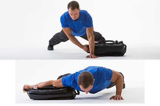 7. Lateral Drag With Push-Ups
