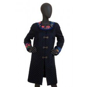 Folk Design - pikowany płaszcz