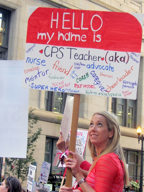 In front of City Hall: Chicago Teachers Strike