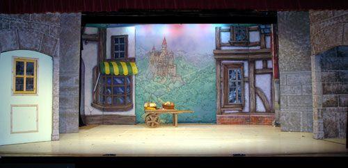 Cinderella stage scenery set