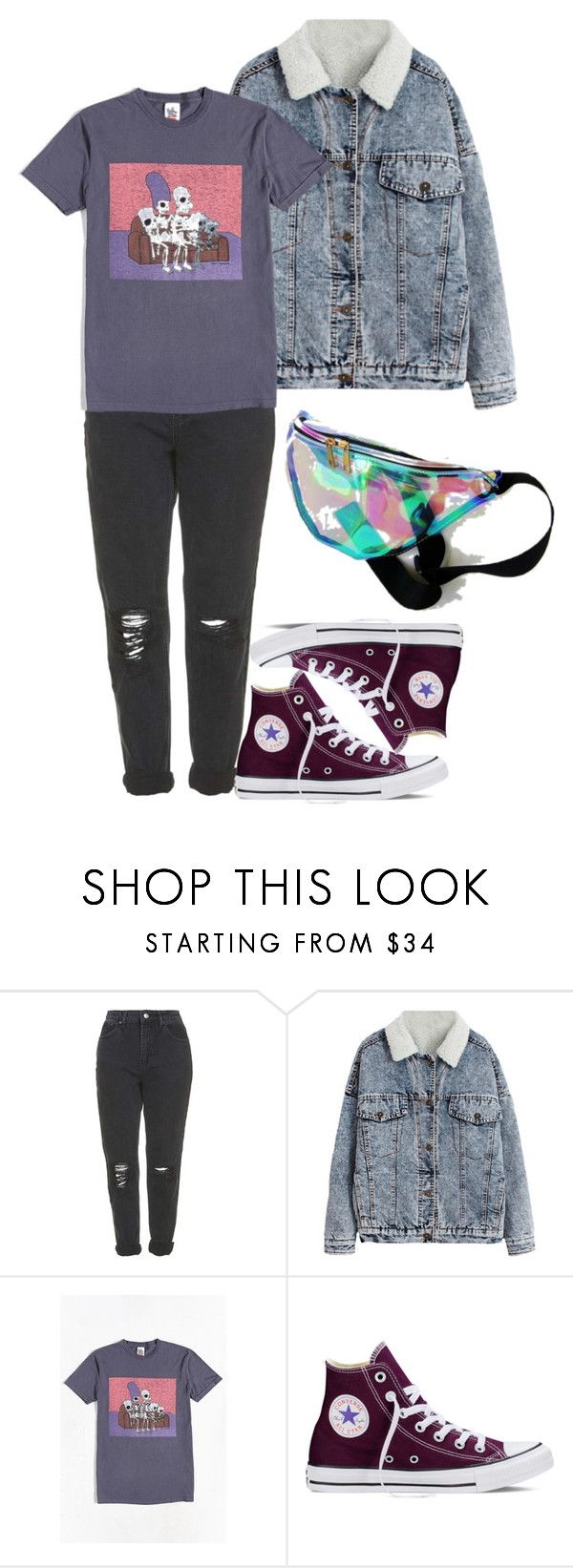 """23.09.2017"" by klorikon00 on Polyvore featuring мода, Topshop, Junk Food Clothing и Converse"