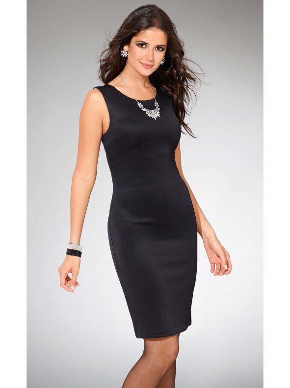 Vestido sin mangas punto neopreno elástico. Imprescindible vestido de líneas puras y favorecedoras que ese convertirá en un auténtico fondo de armario.
