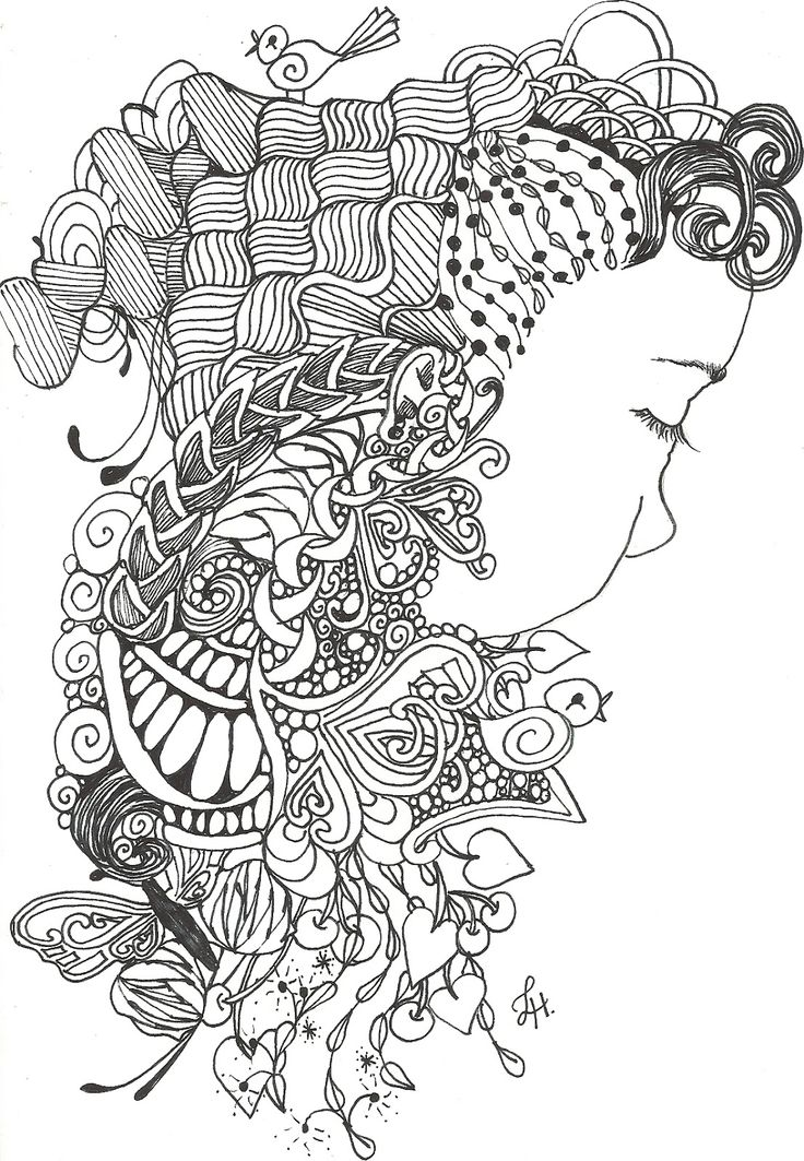 94 Zentangle Coloring Pages Free Printable