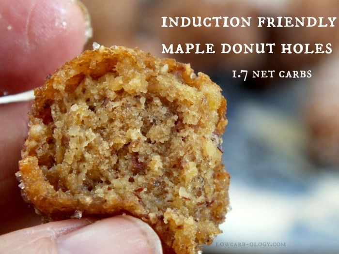 Maple #DonutHoles - made with #porkrinds and #almondflour that are #lowcarb and #glutenfree!