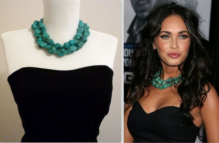 I'm really loving chunky, turquoise jewelry right now