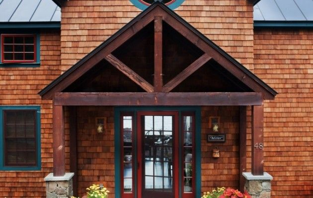 Timber frame porch says mountain lodge ideas for our for Timber frame porches