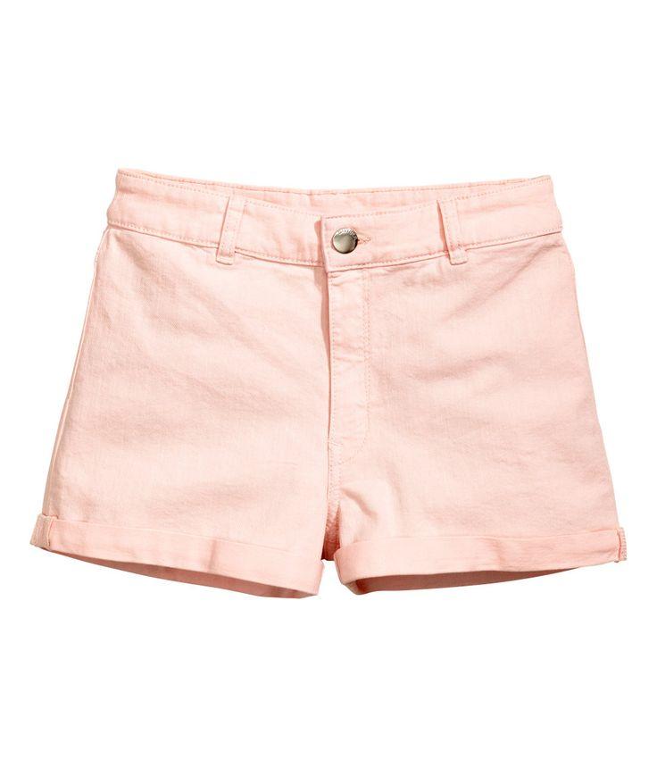Twill short - High waist | Lichtroze | Dames | H&M NL