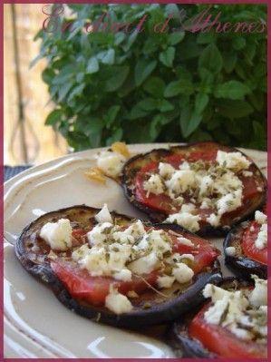 MEZES : Aubergine poêlée - Les recettes grecques de MaryAthenes
