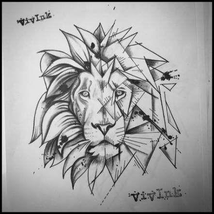 Tattoo Geometric Lion Wolves 29+ Ideas