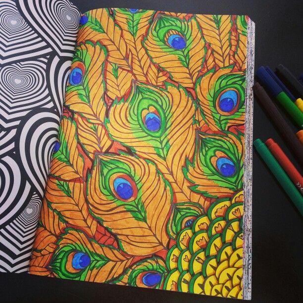 Het Tweede Enige Echte Kleurboek Voor Volwassenen Veren Pauw Free ColoringAdult