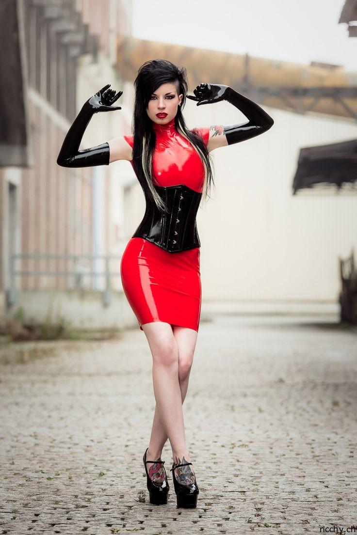 Plus Size Leather Dress