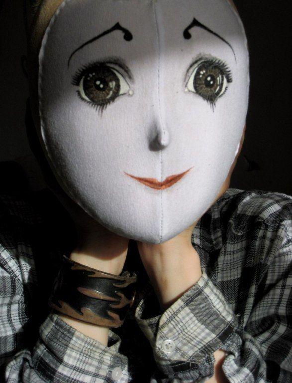 Голова Пьеро для ростовой куклы из папье-маше