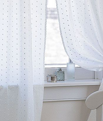 Dotted Swiss Rod Pocket Curtains    yesyesyes, a thousand times, yes!