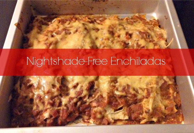 Chloe from How We Flourish shares her recipe for Paleo Nightshade Free Enchiladas. A spicy, Mexican dish with nightshade free red sauce.