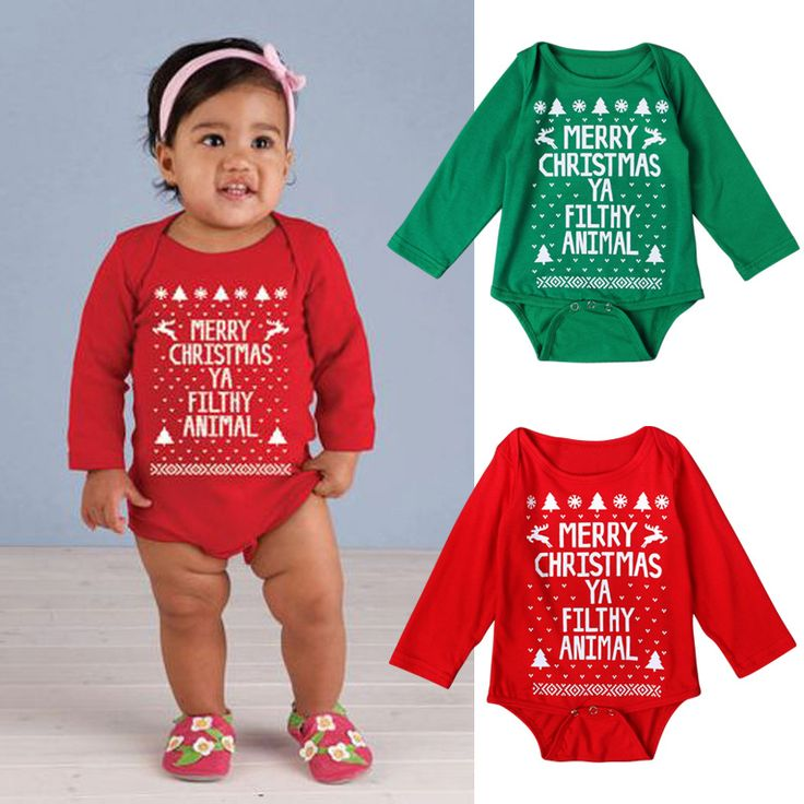 >> Click to Buy << 2017 New baby girls boys bodysuit kids climbing clothes christmas alphabet long-sleeved jumpsuit infant overall outwear 16A12 #Affiliate