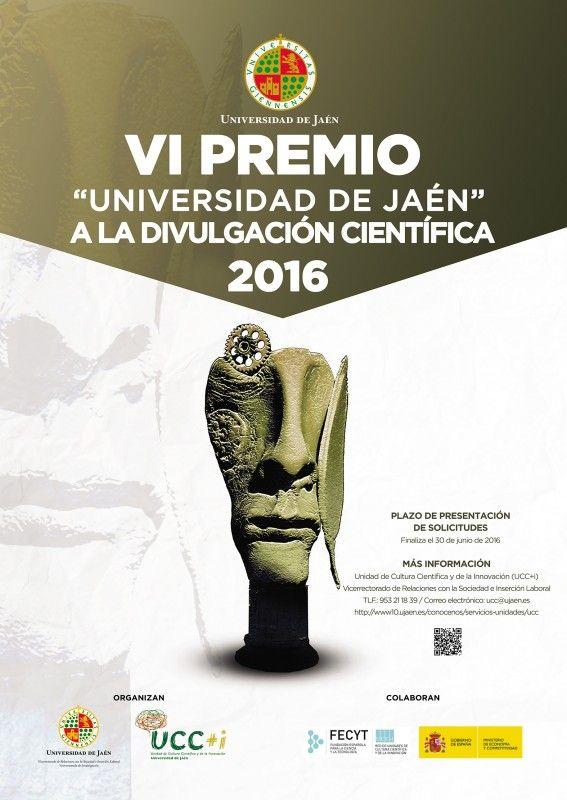 Convocado el VI Premio 'Universidad de Jaén' a la Divulgación Científica 2016