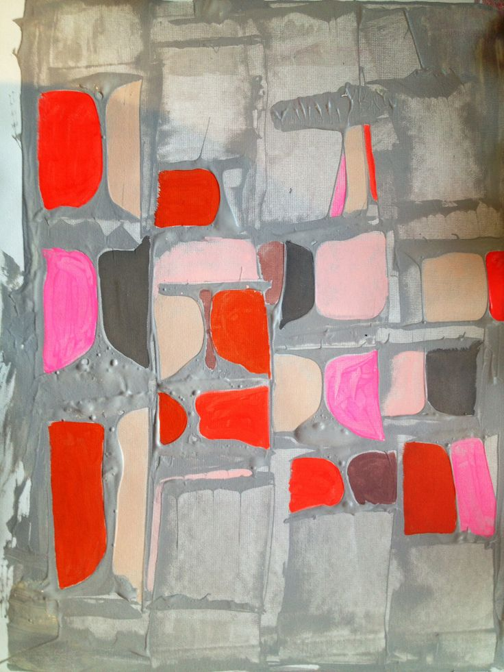 Abstract painting by Elizabeth Saven