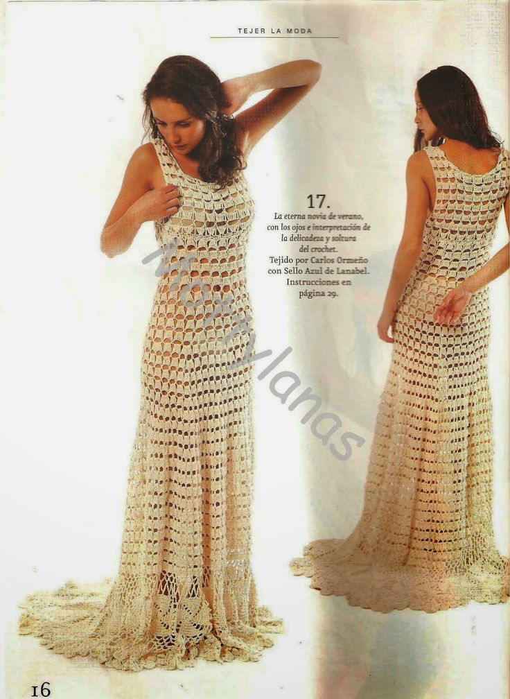 ~ Crochet Style ~: Vestido blanco largo