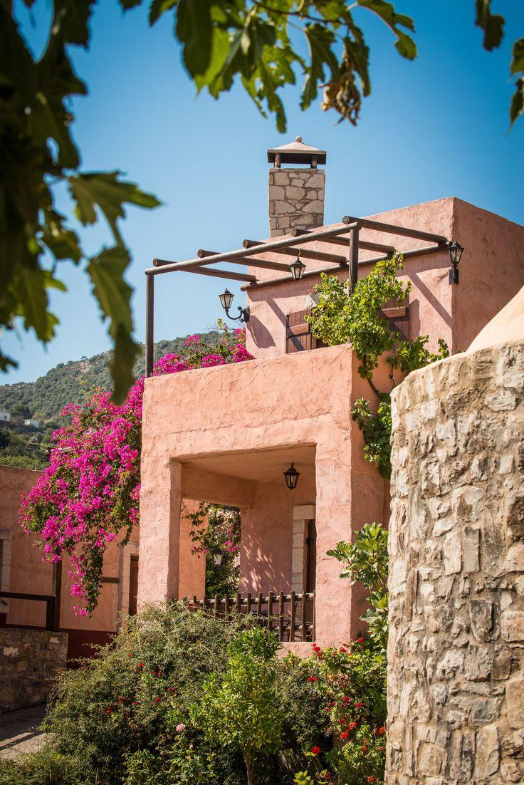 Exterior View of Enagron Ecotourism Village in Axos, Rethymno, Crete, Greece http://www.enagron.gr