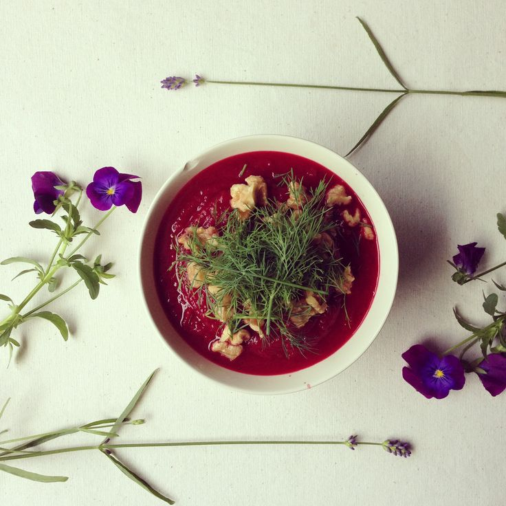 Beetroot and Sweet potato Soup. Ground cumin gives lovely flavor to the soup. So sweet and earthy taste!