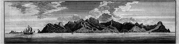 On 2 February 1709, a light was seen on the Juan Fernández Islands , and captain Dover led a landing party to investigate its source.They discovered a fire lit by Alexander Selkirk , a Scottish sailor left on the island in 1705 because he considered the ship he was aboard, the Cinque Ports , as not being seaworthy . Vintage engraving 1709 Life Aboard a British Privateer in the Time of Queen Anne by Robert C. Leslie.  http://www.gutenberg.org/files/44471/44471-h/44471-h.htm