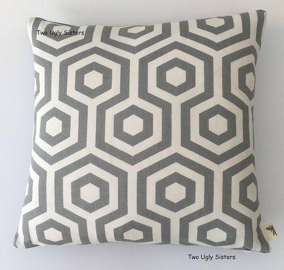 Geometric Grey Print Cushion Cover Abstract Cushions