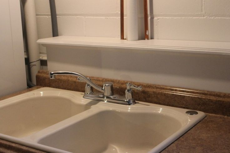 New Utility Sink Use Old Cabinets And A Kitchen Sink From A Remodel To Make A Nicer Basement