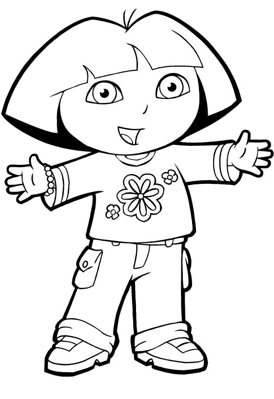 free printable sweet dora the explorer coloring pages - Dora Explorer Coloring Pages Free Printable