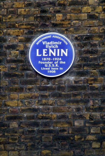 Lenin Blue Plaque at 36 Tavistock Place