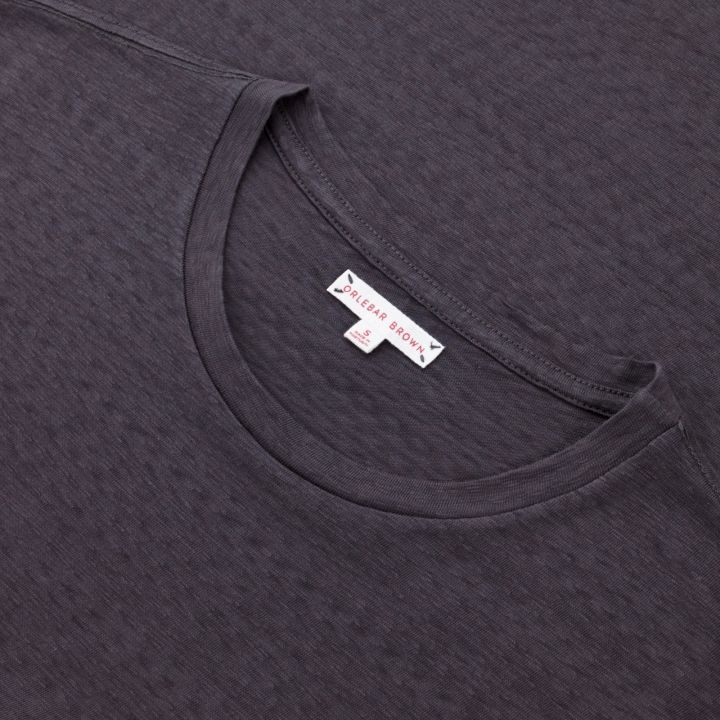 Sammy II - Relaxed Fit T-Shirt with Front Patch Pocket - Ebony
