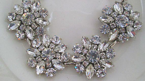 Wedding Bracelet Bridal Jewelry Crystal by MissJoansBridal on Etsy, $42.50
