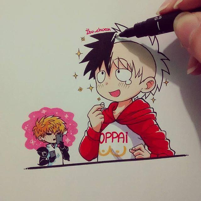 Saitama se ve tan feliz con su pelo nuevo~  Lástima que luego de eso se puso a…