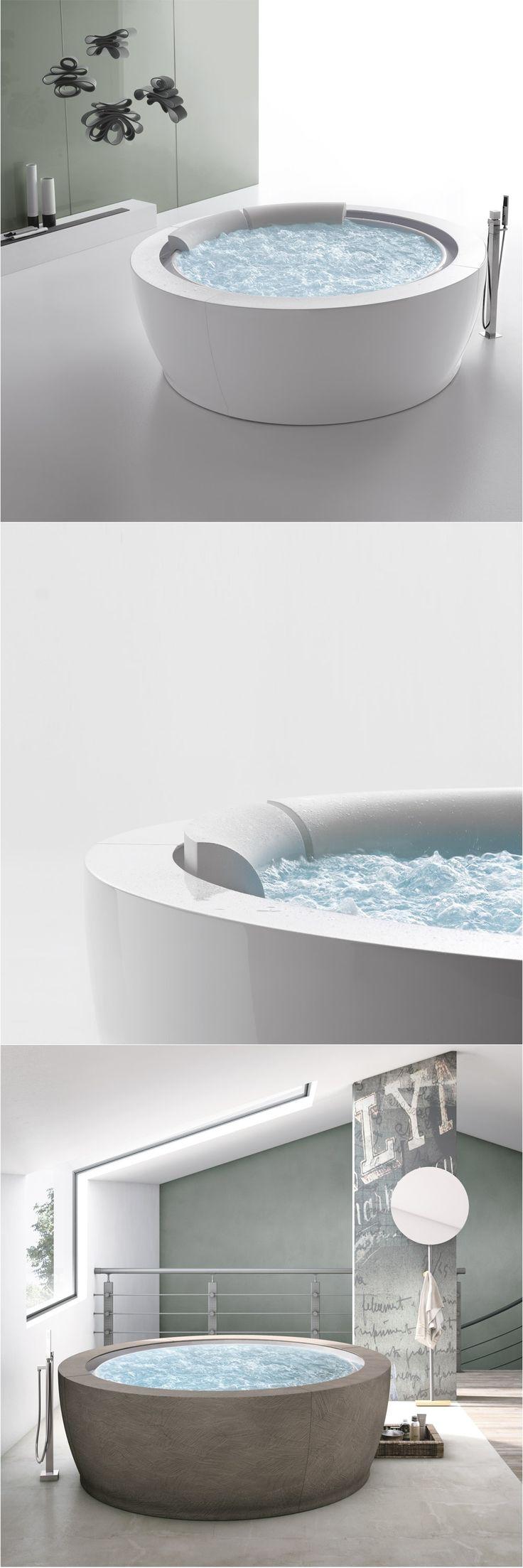 BOLLA INFINITY ø190 hydromassage bathtub. HAFRO GEROMIN » Gruppo Geromin | Design by Franco Bertoli & Davide Danielli