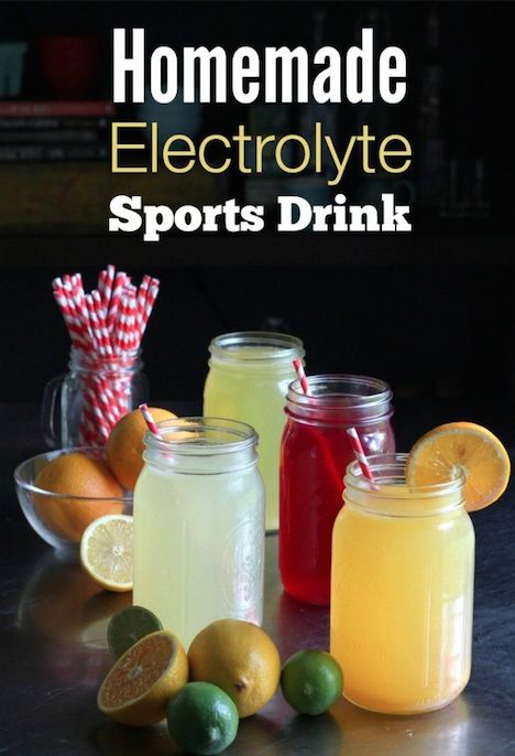Homemade Electrolyte Energy Drink - Instead of Gatorade or PowerAde, make these good for you sports drinks (Chemical and artificial color/flavor free & cheaper!)