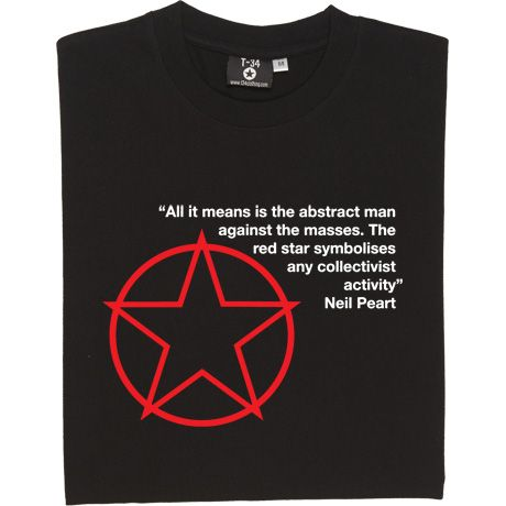 Rush Red Star T-Shirt. Neil Peart, possibly the best drummer in the world, explaining Rush's imagery and individualist...