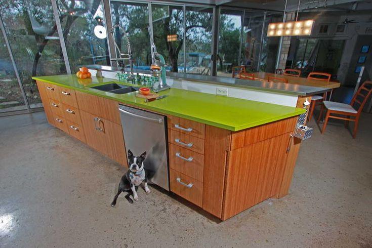 Caesarstone green countertop kitchen ideas pinterest for Cost of caesarstone countertops