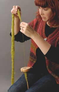 Spinning with a drop spindle part 1