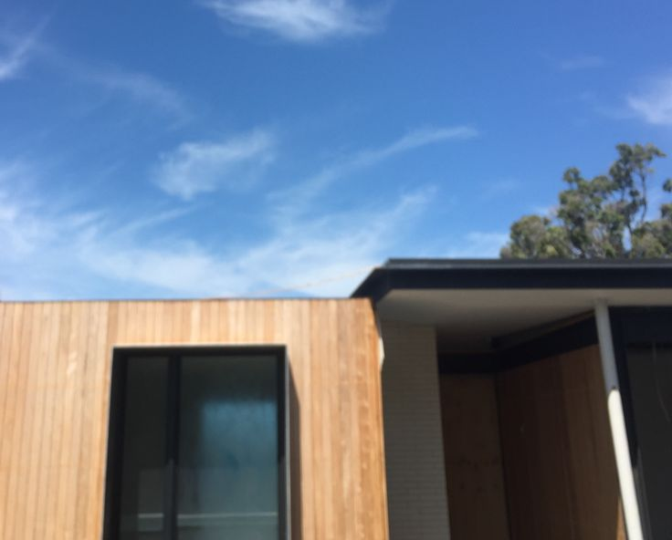 Nice blackbutt (I think) cladding