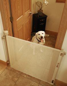 Retract-A-Gate ~ Retractable Dog Gate