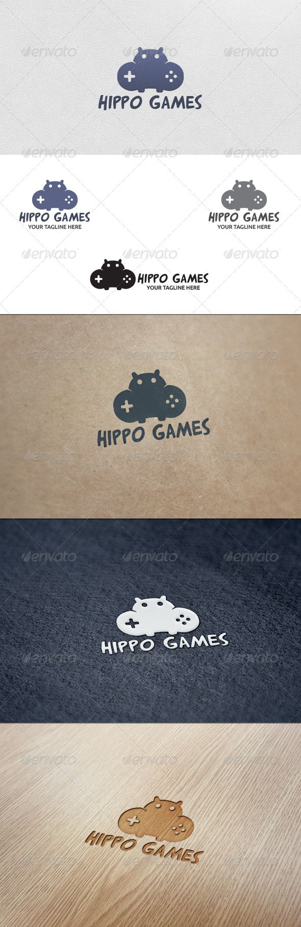 Hippo Games - Logo Template - Animals Logo Templates