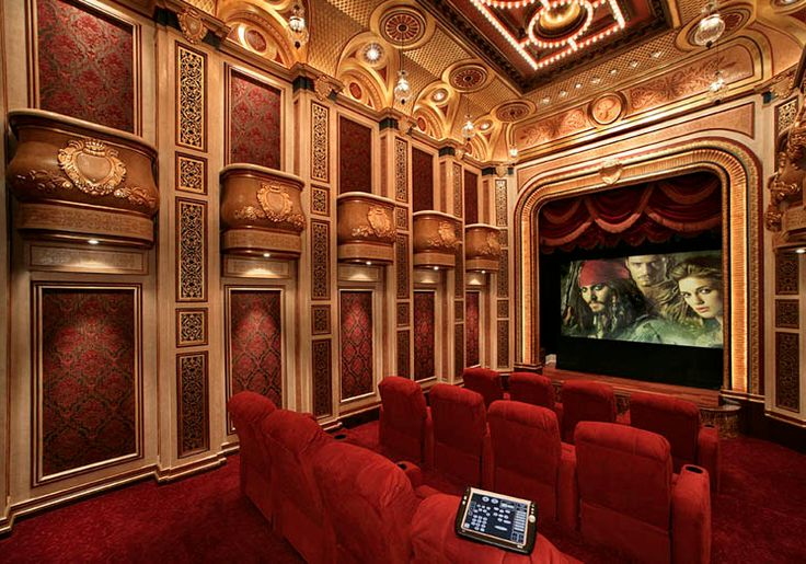an unbelievable all regal red home theatre with private
