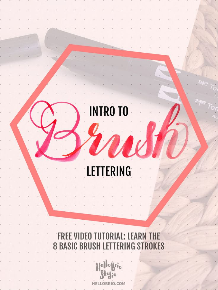 Brush lettering is a beautiful craft that is a tribute to hand lettering  and calligraphy. There's so much inspiration online! For example, many  posts within the Lettering League feature brush lettering.  In this post, I'll walk you through how to get started with brush  lettering. This post includes a video tutorial to help you learn the 8  basic strokes needed to create brush calligraphy letters. These basic  strokes are fantastic to learn now, so you can practice them with lettering…