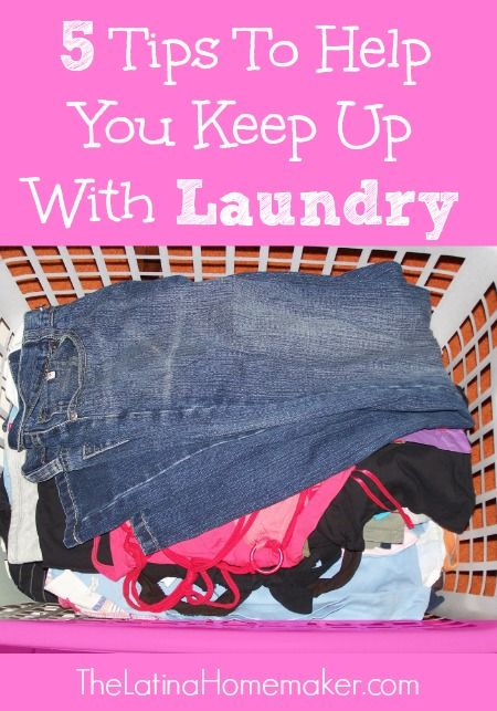 To ease the pain of doing this daunting task, here are 5 tips that have helped me keep up with laundry and will hopefully help you do the same.