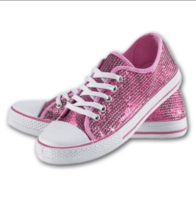 Womens Tennis Shoe With Sequins