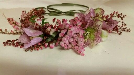 Flower crown by Pattersons Florist