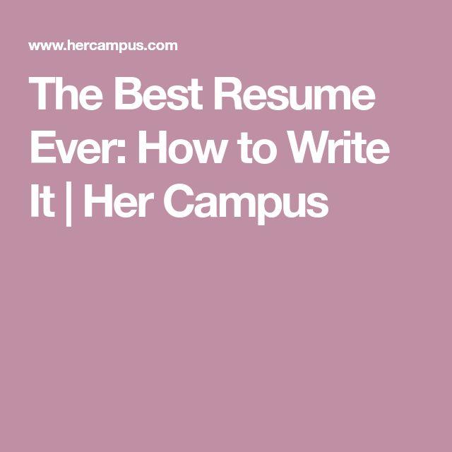 The 25+ best Best resume ideas on Pinterest Resume ideas - best resumes ever